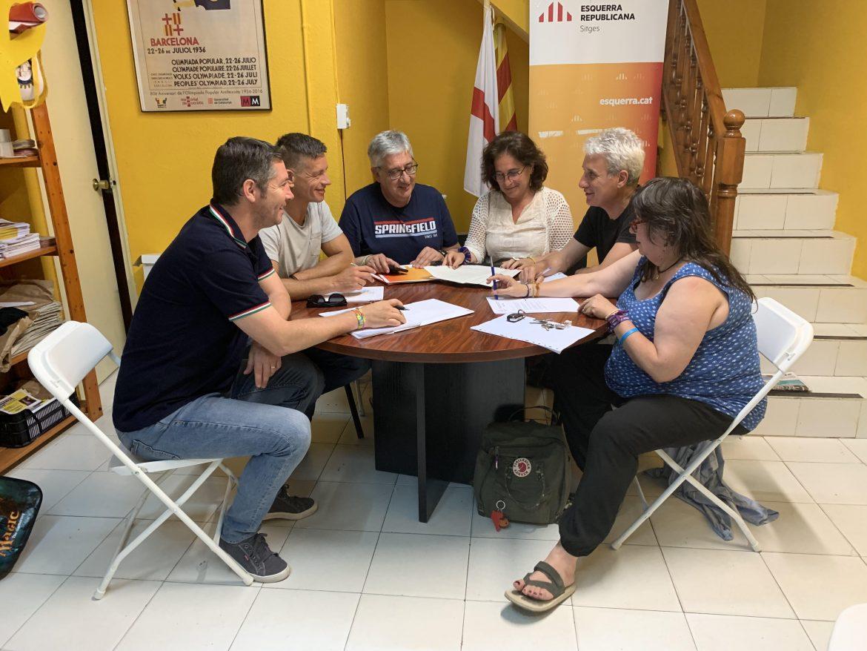 Esquerra Republicana de Sitges i Sitges Grup Independent tanquen un preacord per formar govern a Sitges.